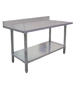 "(23798) Elite Series Work Table, 72""W x 24""D x 38""H, 18/430 stainless steel top"