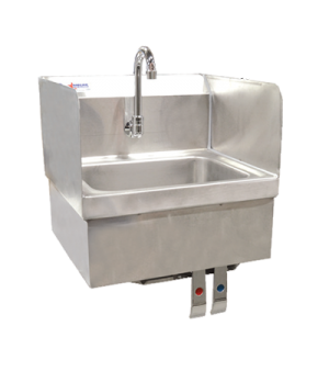 "(37868) Hand Sink, 9-3/4"" x 14"" x 5-1/4"" bowl, gooseneck faucet, knee valve asse"