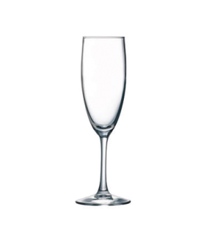 "Champagne Flute Glass, 5-3/4 oz., glass, Arcoroc, Rutherford (H 7-7/8""; T 1-15/1"