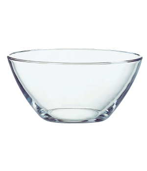 "Bowl, 33-3/4 oz., glass, Arcoroc, Cristelle, (H 3-1/8""; M 6-5/8"")"