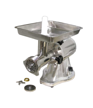 (21634) Meat Grinder, electric, #22 head, polished aluminum body, stainless stee