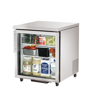 ADA Compliant Undercounter Refrigerator, 33-38° F, stainless steel top & sides,