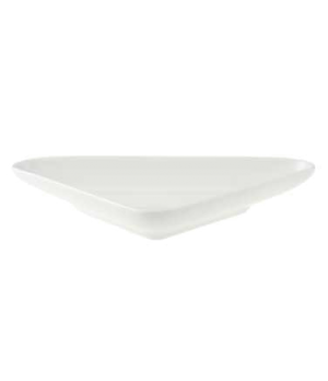 "Bowl, 6-2/3"" x 3-7/8"", 3-1/2 oz., flat, triangle, premium porcelain, Pi Carre"
