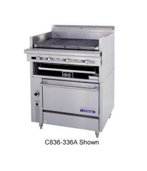 "Cuisine Series Heavy Duty Range, gas, 24"", Charbroiler/Broiler, cast-iron radian"