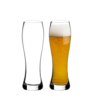 Pilsner Beer Glass, 20 oz., stemless, crystalline (6 per pack)