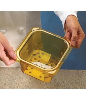 "H-Pan™ Colander, 3"" deep, amber, polysulfone, NSF"