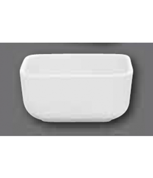 "Baking Dish, 4-3/4"" x 4-3/4"", square, oven, microwave and dishwasher safe, porce"