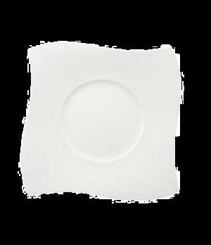"Buffet Plate, 13-1/4"" x 13-3/4"", premium bone porcelain, New Wave Premium (Speci"