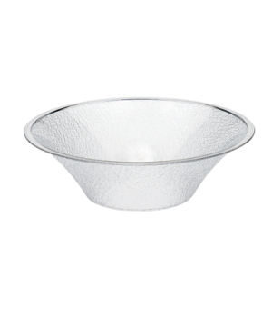 "Bowl, pebbled, bell-shaped, 12"" dia., 4 qt. capacity, polycarbonate, NSF"