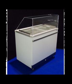Ice Cream Cabinet, (12) tub or (6) basket capacity, 19.21 cu. ft., sliding glass