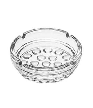 "Ash Tray, 4"" diameter, clear glass, NOB HILL®"