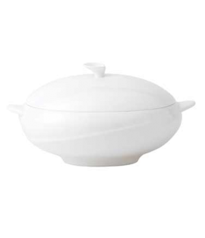 Solar Vegetable Dish, with lid, dishwasher safe, bone china, white (priced per c