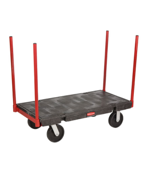 "Platform Truck, Stanchion, 24"" x 48"", 2500 lb capacity, heavy duty steel removab"