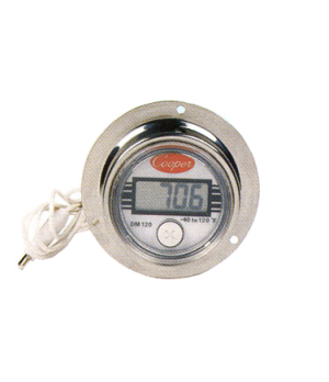 "Thermometer, electronic panel type, 3-1/2"" x 1-5/8"" x 3-1/2"", temperature range"