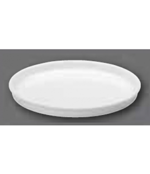 "Serving Dish/Lid, 11-3/4"" dia., round, oven, microwave and dishwasher safe, porc"