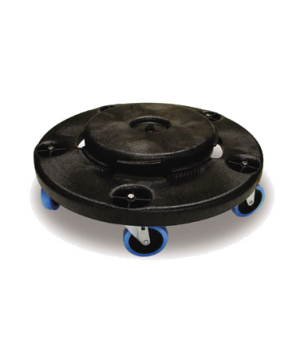 "BRUTE® Quiet Dolly, 18-1/4""D x 6-5/8""H, non-marking blue casters, black"