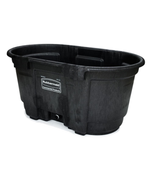 Stock Tank, 100 gallon capacity, structural foam, black