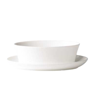 (0110) Fusion Gravy Boat, 25 oz. (75.0 cl), bone china, microwave safe, white (s