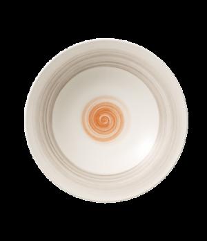 """Plate, 11-3/8"""", 9-1/2 oz., round, coupe, deep, premium porcelain, Amarah Red Sun"""