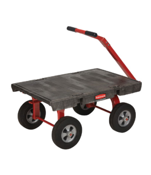 "5th Wheel Wagon Truck, 24"" x 36"", 2000 lb capacity, pivoting front axle, vinyl g"