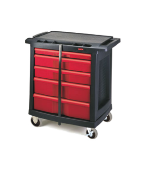 "Work Center, mobile, 5-drawer, 32-5/8""L x 19-13/16""W x 33-1/2""H, supports up to"