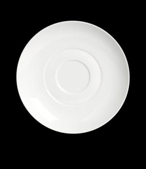 "Saucer, 7-1/8"" dia., round, for 6300P171, porcelain, Aura™, Rene Ozorio (USA sto"