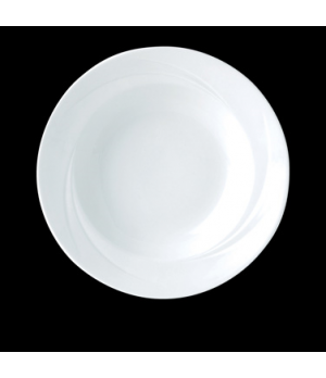 "Soup Plate/Bowl, 12 oz., 9-1/2"" dia., round, rimmed, Distinction, Alvo, Alvo Whi"