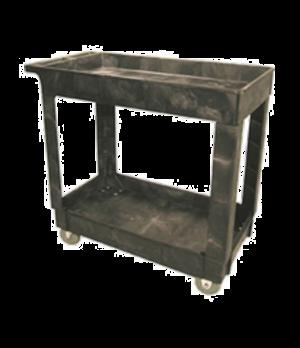 """Utility Cart, 2 shelves, 300 lb. capacity, open base, 34""""L x 16""""W x 31-1/4""""H, po"""