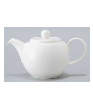Teapot #5, 13 oz., with lid, premium porcelain, Easy White