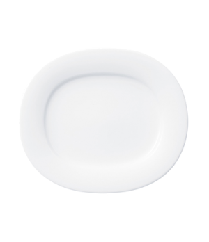 "Plate, 6-1/2"" x 5-3/4"", oval, premium porcelain, Affinity"