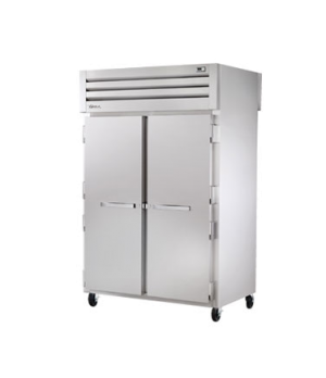 SPEC SERIES® Pass-thru Refrigerator, two-section, stainless steel front/sides, (