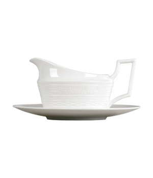 Intaglio Gravy Boat, dishwasher safe, bone china, white (priced per case, packed