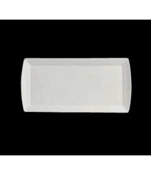 "Tray, 11-3/4"" x 5-3/4"" x 1/2"", rectangular, porcelain, Varick Alpha-Ceram (USA s"