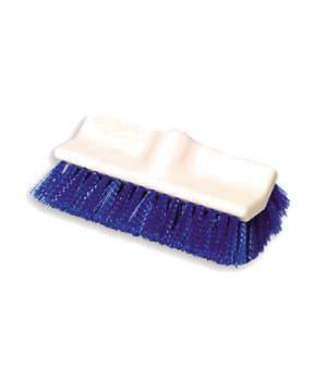 "Floor Scrub Brush, 10"" L, plastic, polypropylene fill, blue"