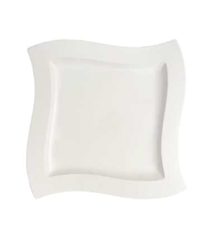 "Buffet Plate, 13-3/8"" x 13-3/8"", premium porcelain, New Wave"