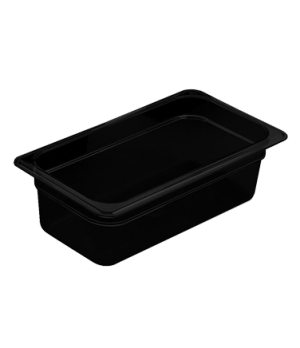 "H-Pan™, 1/3 size, 4"" deep, hi-temp plastic, polysulfone, non-stick surface, won'"