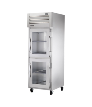 SPEC SERIES® Refrigerator, Reach-in, one-section, stainless steel front, aluminu