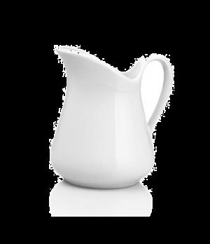 "Milk Jug, Mehun N°4, 11 oz., 4-1/4"" dia., round, handled, 360133BL, porcelain, P"