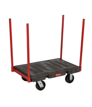 "Platform Truck, Stanchion, 24"" x 36"", 2500 lb capacity, heavy duty steel removab"