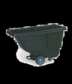 Rotational Molded Tilt Truck, standard duty, 300 lb. capacity, 1/2 cu. yard, bla