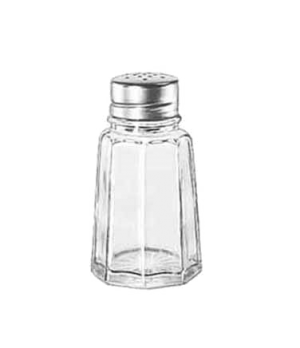 Salt/Pepper Shaker, 2-7/8 oz., glass with stainless steel top, GIBRALTAR®, (H 3-