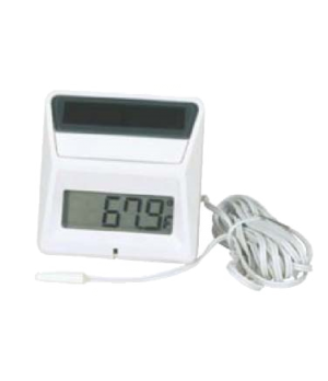 "Thermometer, solar powered, panel type, 2.77"" x 2.68"" x 0.68"" (7cm x 6.8cm x 1.7"