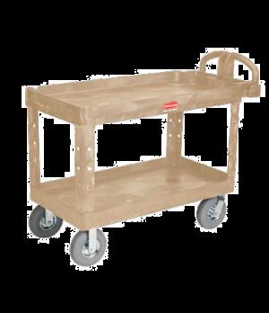 "Heavy Duty Utility Cart, 24"" x 46"" shelf size, two shelf, 750 lb. total capacity"