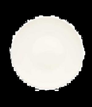 "Plate, 9-7/8"", flat, premium porcelain, Dune"
