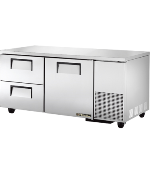 Deep Undercounter Refrigerator, 33-38° F, stainless steel top & sides, white alu