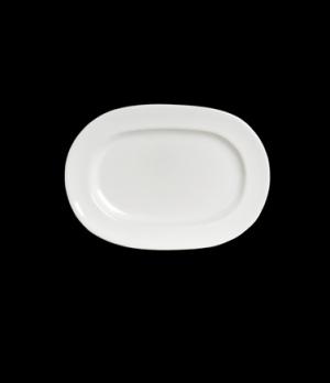 "Platter, 11-1/4"", racetrack oval, bright white glaze, Anfora, American Basics (U"