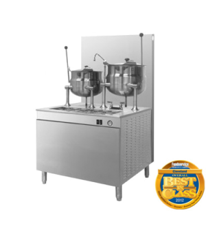 """Kettle/Cabinet Assembly, Gas, 36"""" W cabinet base, with two 10-gallon kettles, st"""