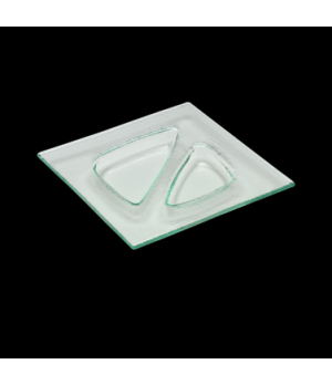 "Specialty Plate, 8"" x 8"", glass, clear, Duo, Creations (USA stock item) (minimum"