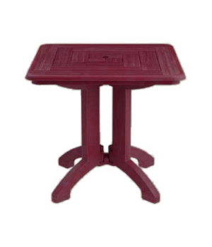"""Atlantis Folding Table, 32"""" square, Rexform® resin with synthetic wood finish,"""