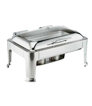 Symphony Chafer, 9 qt., full size, rectangular, self-closing cover with glass vi